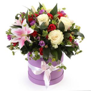 """Цветы в коробке """"Карамелька"""""""