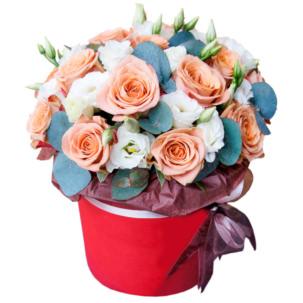 """Цветы в коробке """"Зефир"""""""